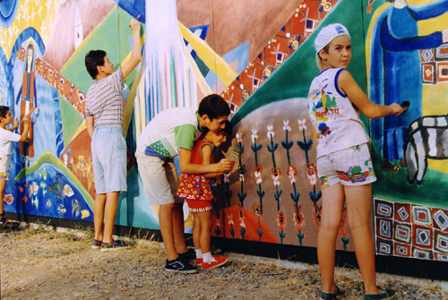 Painting A Mural On Outside Wall