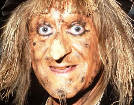 No, it's not Consuelo after a roll in the mud with Musumeci. It's Worzel Gummidge.