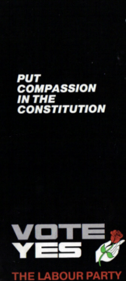 A poster from Ireland's 1986 referendum to remove the constitutional ban on divorce