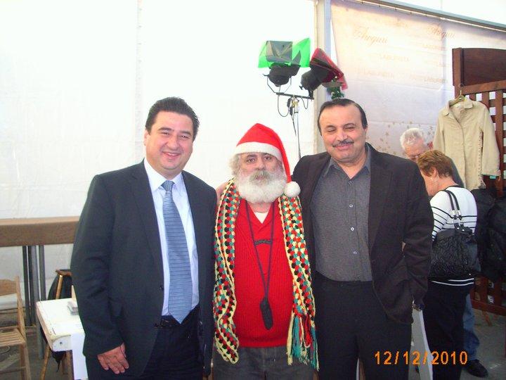 Toni Abela with father christmas