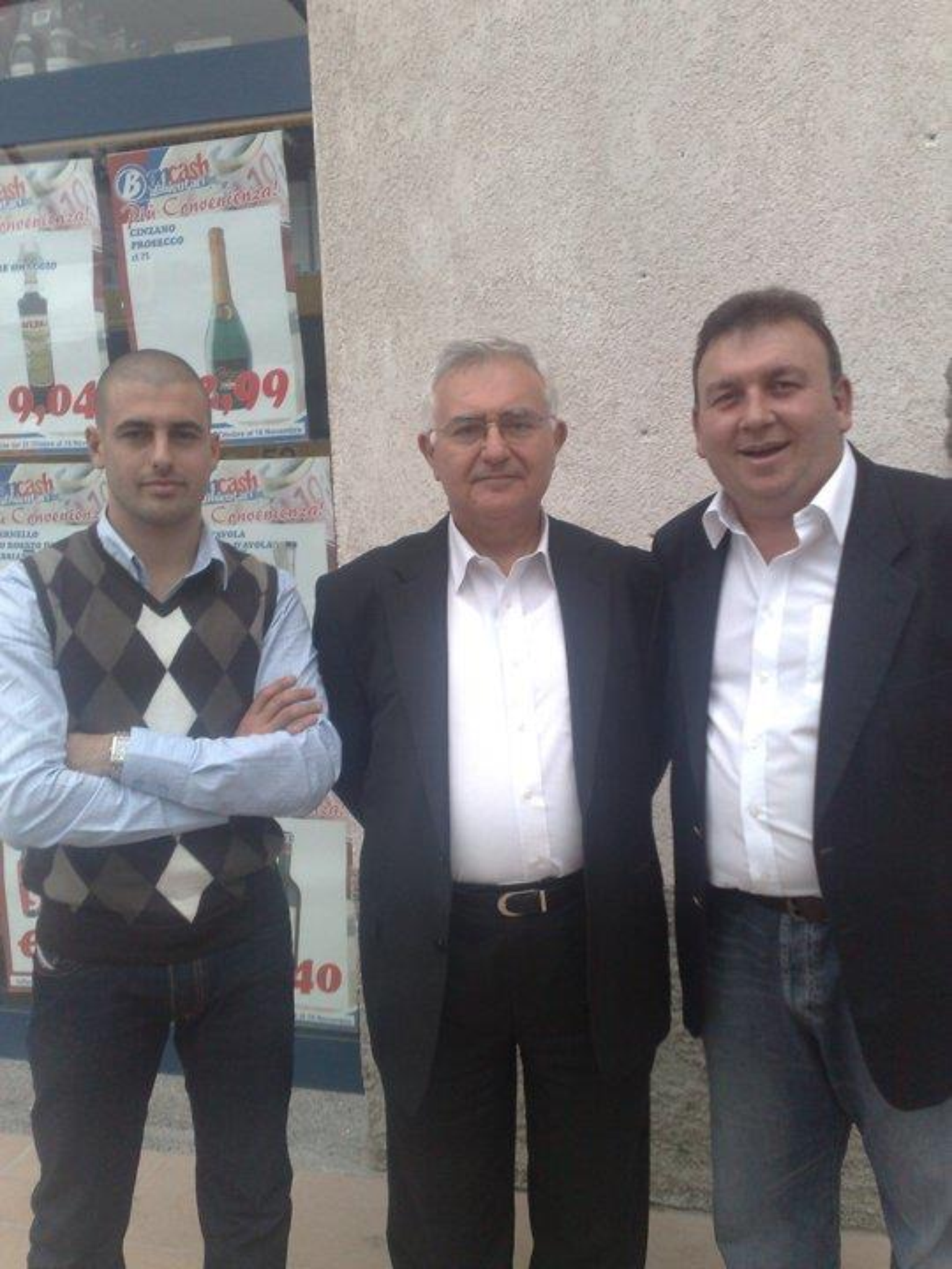 John Dalli on holiday in Italy with Iosif Galea and Silvio Zammit