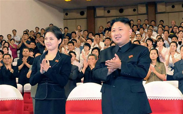 Kim Jong-Un with his mistress Hyon Song-Wol