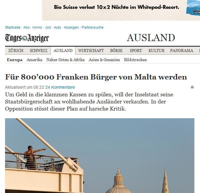 Tages Anzeiger - Switzerland