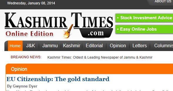 KASHMIR TIMES 8 JANUARY 2014