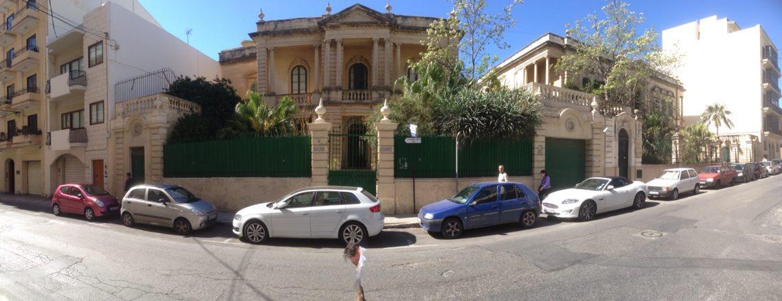 Villino Zammit in High Street, Sliema (top end of Victoria Avenue/George Borg Olivier Street)