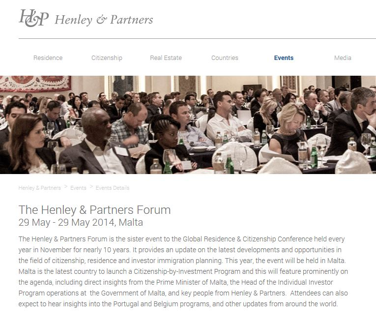 Henley & Partners Malta forum 1