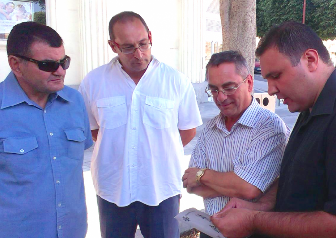 Ivan Grech Mintoff, second from left - and yes, that's Transport Minister Joe Mizzi there, but he's not in the Alleanza Bidla