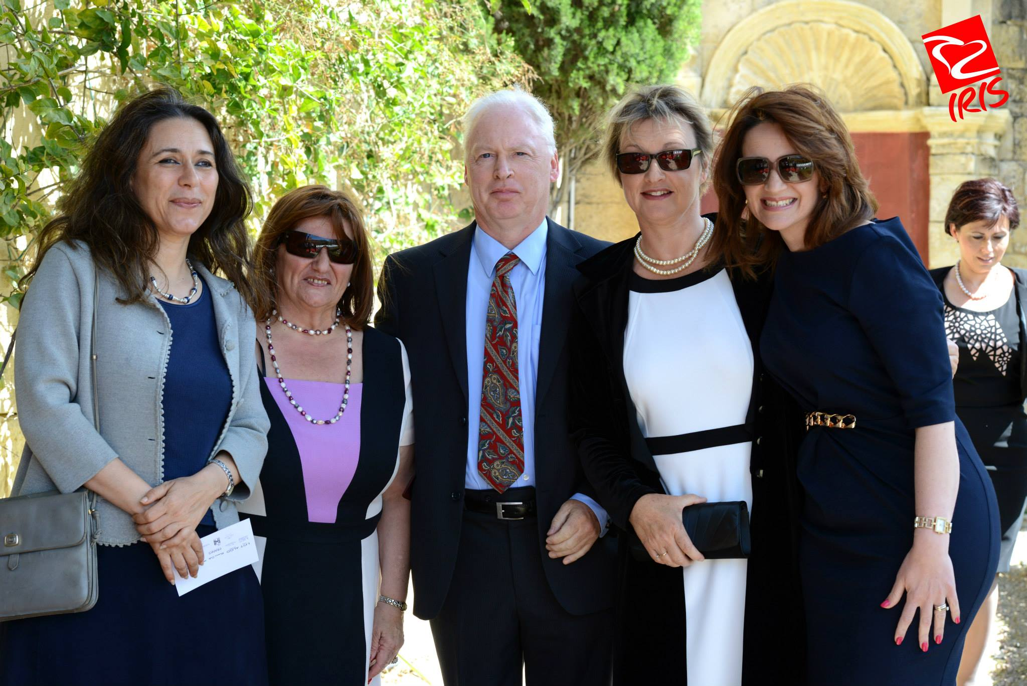 Mrs Muscat, far right, with guests