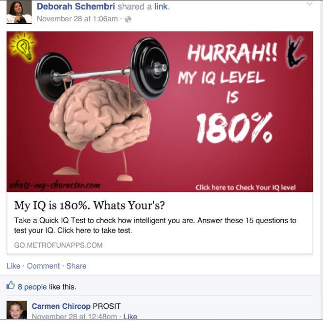 Deborah Schembri's IQ - Daphne Caruana Galizia's Notebook | Running