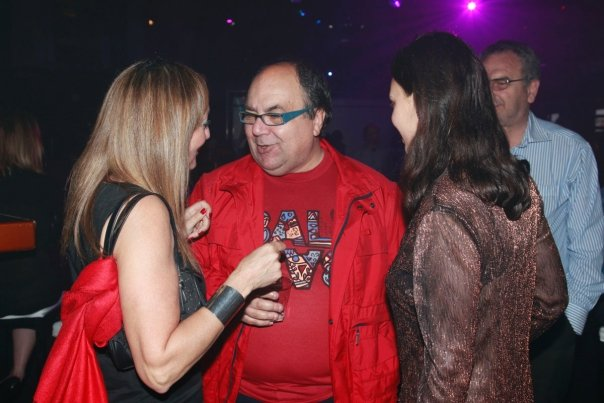 Can you imagine making a man like that Police, Army and Justice Minister? What's wrong with the prime minister? Picture shows the man who is refusing to resign, with Codruta Cristian and Marlene Mizzi