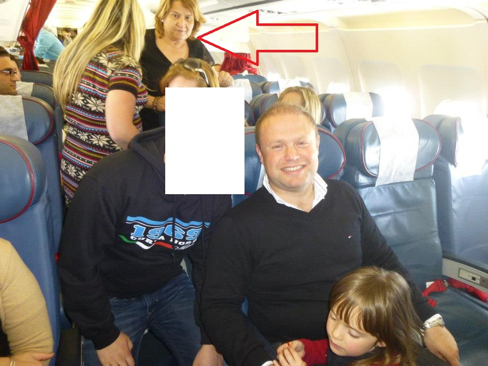 Phyllis Muscat travelling in club class on a double family holiday to Italy with the prime minister - that's a whole lot of Muscats