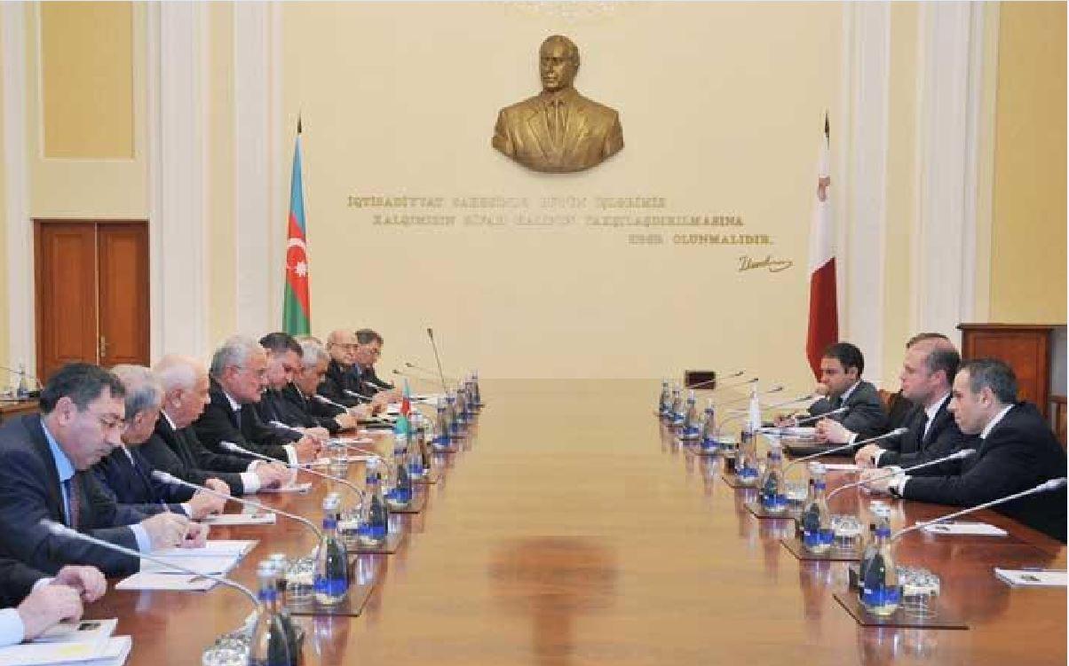 Joseph Muscat, Konrad Mizzi, Keith Schembri and Kurt Farrugia negotiating alone in Baku in December 2014