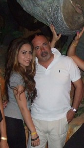 Cheryl Azzopardi with her father Mario, the Economy Minister's chief of staff.