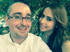 Cheryl Azzopardi with her boyfriend, the Economy Minister's law partner Mark Vassallo