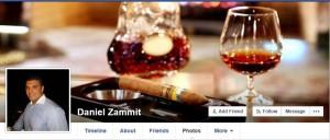Daniel Zammit cigar and brandy