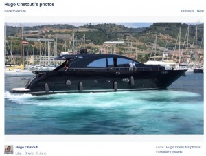 Ugo Chetcuti's new boat