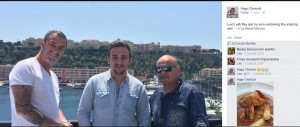 Ugo Chetcuti and his son Luke Chetcuti in Monaco with an associate. Luke Chetcuti holds shares with corrupt police inspector Daniel Zammit in the company which operates a nude dancing club in Paceville. Luke Chetcuti was just 19 when the company was set up and he was made a director and shareholder.