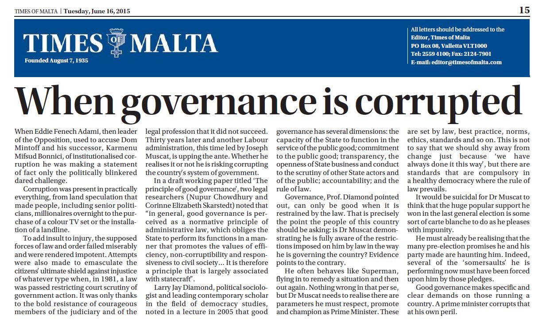 Corruption Essay