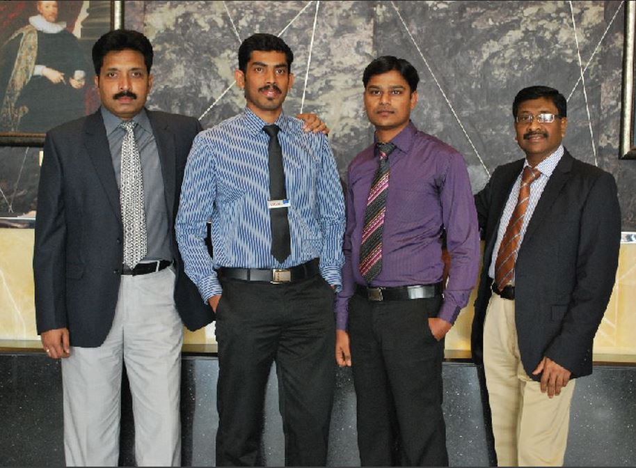 The members of Study World's most important department: the Visa Department