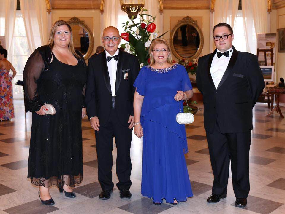 Malta's head of state (blue dress), seen here with her husband Edgar Preca and two of her closest aides, is off to London in November to promote and sell Maltese passports for Henley & Partners, who list her in their promotional drive as a citizenship 'industry expert'.