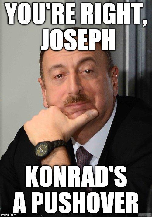 Aliyev Konrad Mizzi fall guy