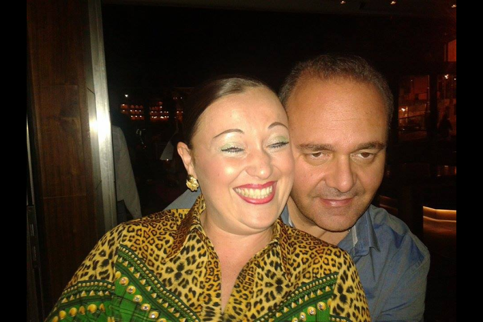 Chris Cardona, the Minister for the Economy, drunk with a non-Maltese friend at Hugo's Lounge last year. This photograph was uploaded on her Facebook page.