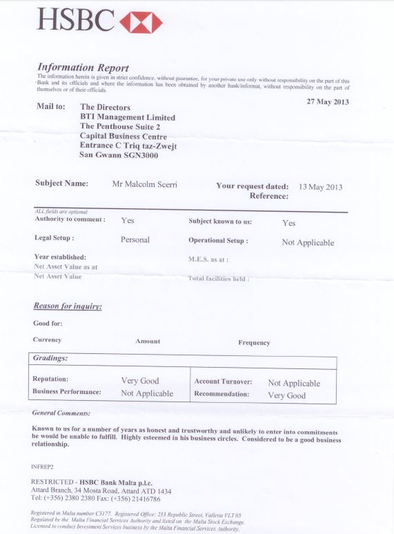 Hsbc Bank Documents Used By Prime Minister S Chief Of