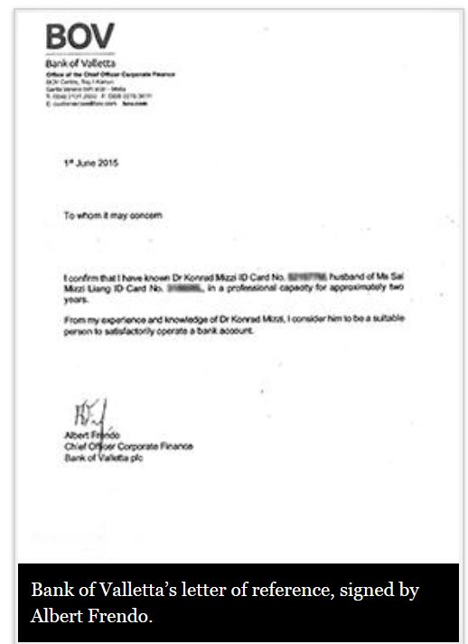 Surprise theres a fishy bank reference letter for konrad mizzi bov letter expocarfo Image collections
