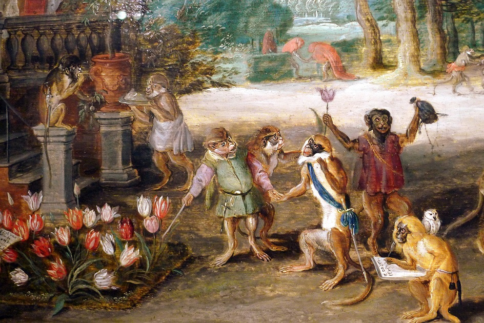 Detail of Jan Brueghel the Younger's Satire of Tulip Mania, 1640