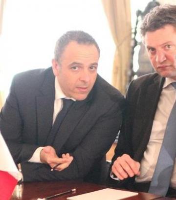 Keith Schembri is seen here with Konrad Mizzi