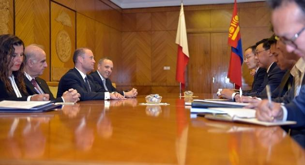 Keith Schembri with Joseph Muscat in Mongolia